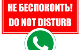 Что значит «Не беспокоить» в Whatsapp?