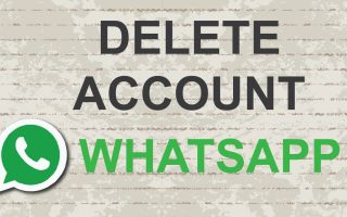 Удаление WhatsApp