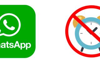 Как отключить (выключить) Whatsapp на время