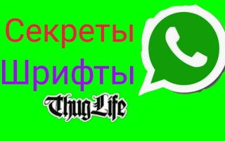 Шрифты Whatsapp