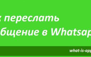 Как переслать сообщение в Whatsapp другому человеку (абоненту) или этому же собеседнику?